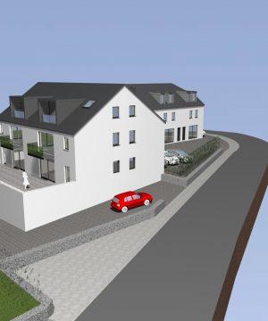 Résidence de 6 appartements et 3 maisons –  totalement vendu