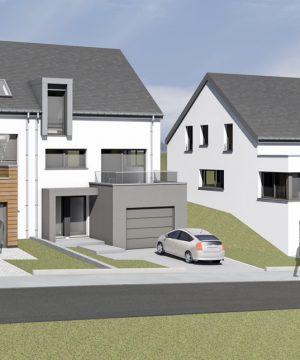 4 Maisons unifamiliales 3 façades